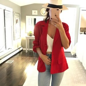 DKNY candy apple red blazer size 10 or large